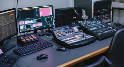 close-up-sound-engineer-studio-with-equipment